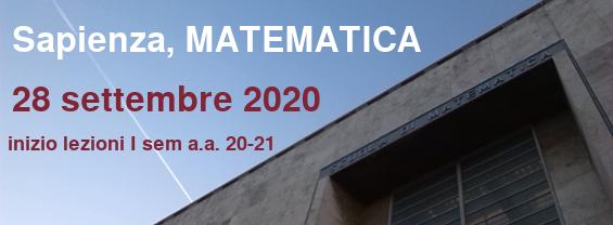 Scuola di Matematica, inizio lezioni