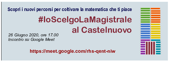 #IoScelgoLaMagistrale al Castelnuovo