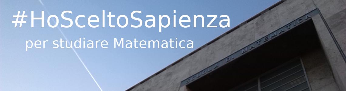 #IoHoSceltoSapienza-perStudiareMatematica